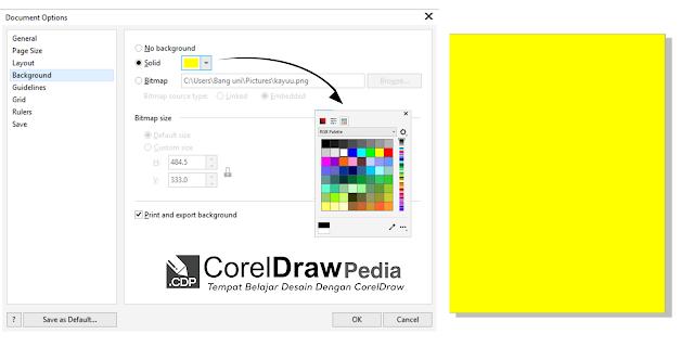 Tutorial Cara Mengganti Warna Background Page Di Aplikasi Coreldraw Belajar Desain Grafis Lembar Kerja