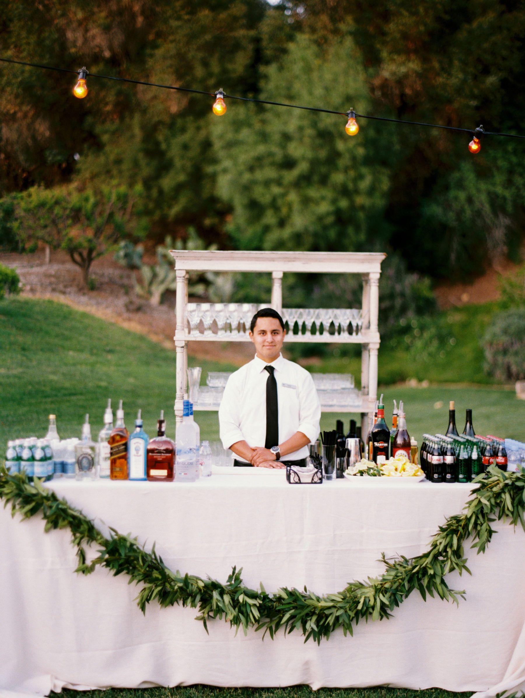 Ojai Resort Outdoor Wedding With Images Wedding Cocktail Bar