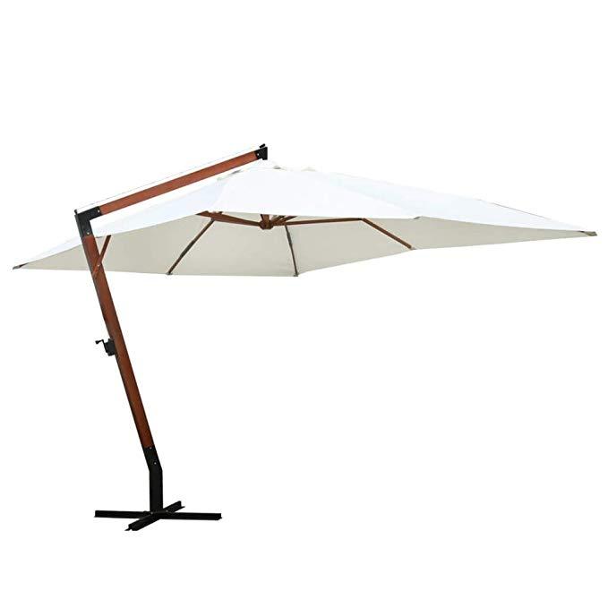 Amazonsmile Hellowland 118 1 X157 5 Floating Parasol Melia Duplex Sun Umbrella Patio Umbrella Garden Parasol Sunshade Outdo Patio Umbrella Patio Patio Shade