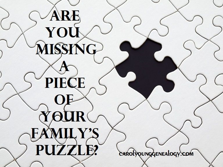 Looking for that missing piece of your family history ...