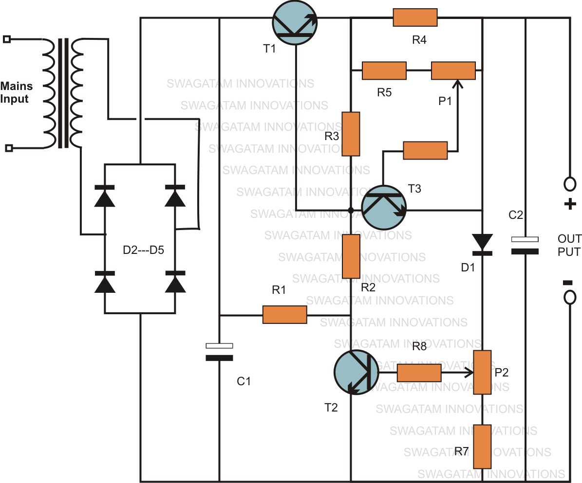 Adjustable Current Schematic Diagrams Schematicrev4 The Post Explains Simple Zero To 40 Volts Regulated Variable Power