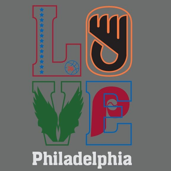 low priced 40b45 acb26 Philly Sports Teams Logos Inside Of
