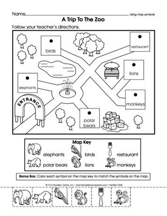 3 A Trip To The Zoo The Mailbox More Kindergarten Social Studies Social Studies Worksheets Social Studies Maps