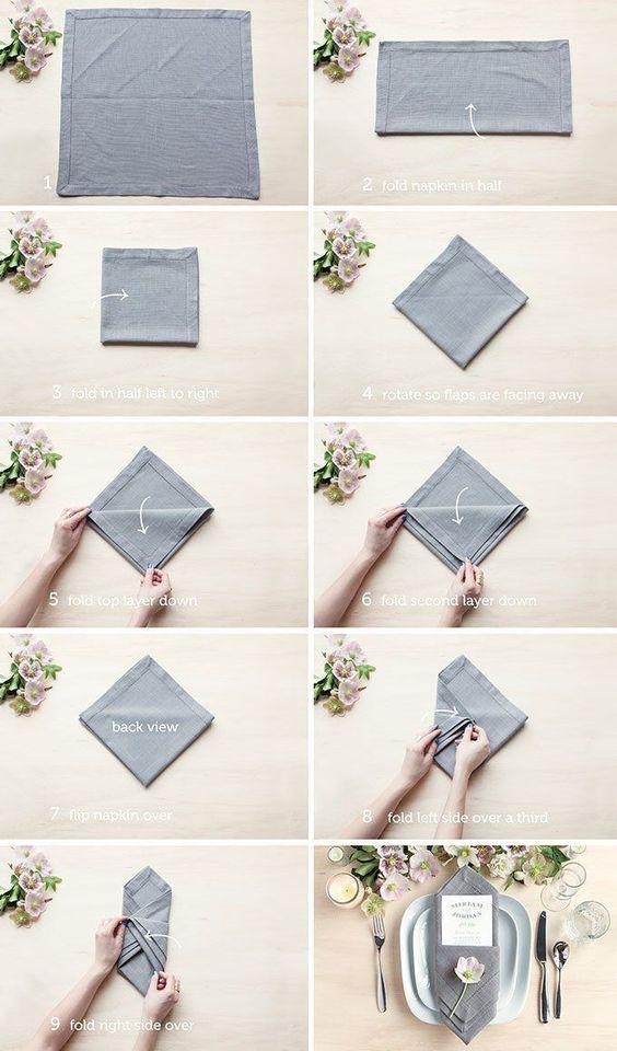Ways To Fold A Napkin   Napkins, Menu and Family reunions