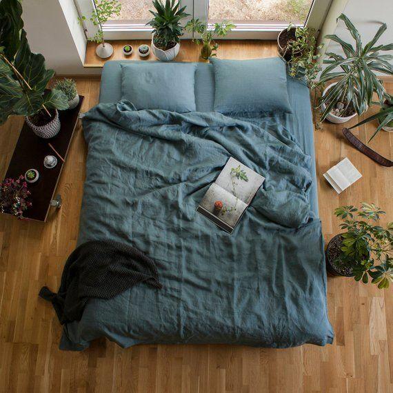 Photo of Linen Bedding Set,Linen Duvet Cover and Pillowcases,Softened Linen Bedding,Pure Linen Bedding…