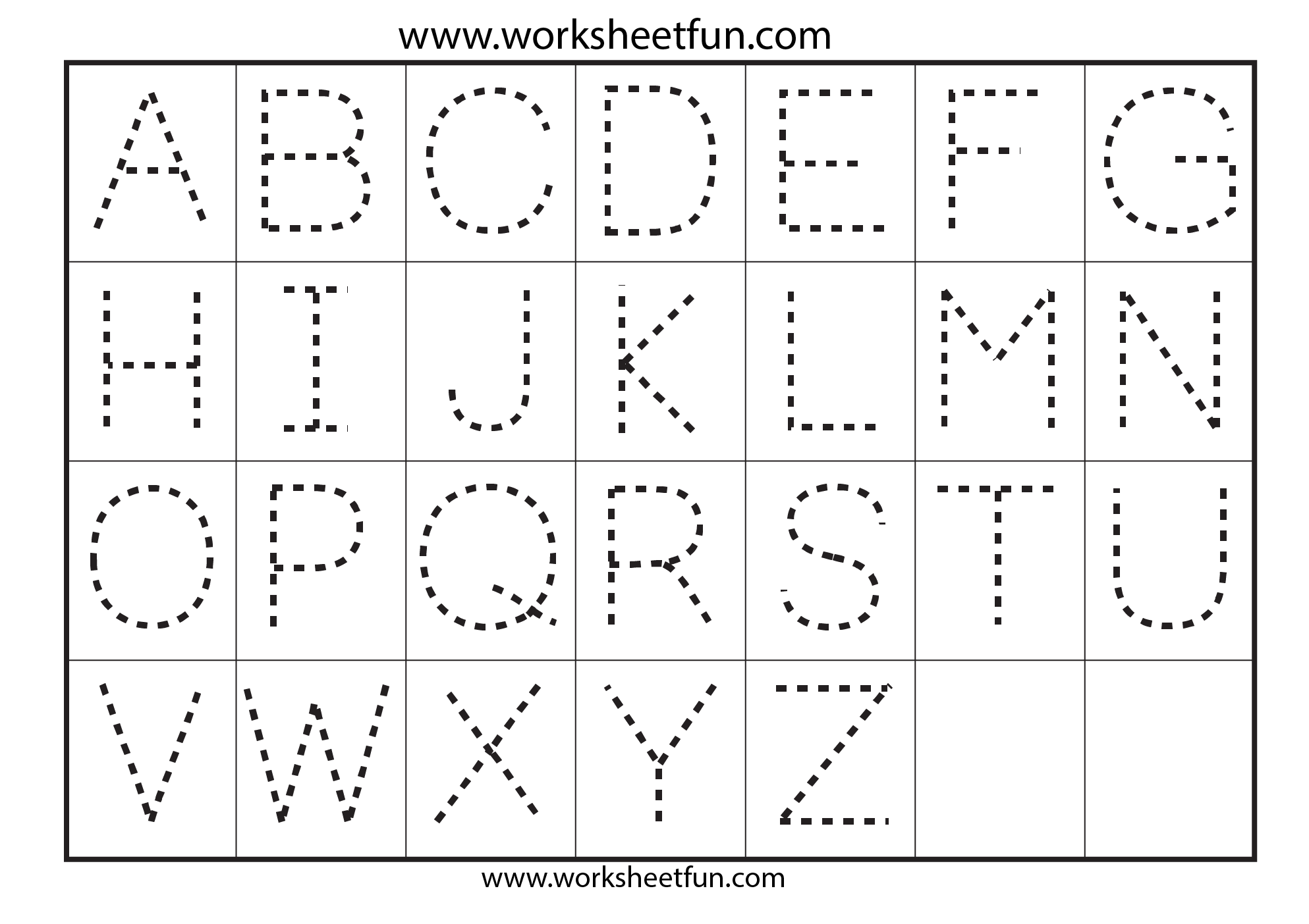 Letter Traceing Preschool Worksheets Alphabet