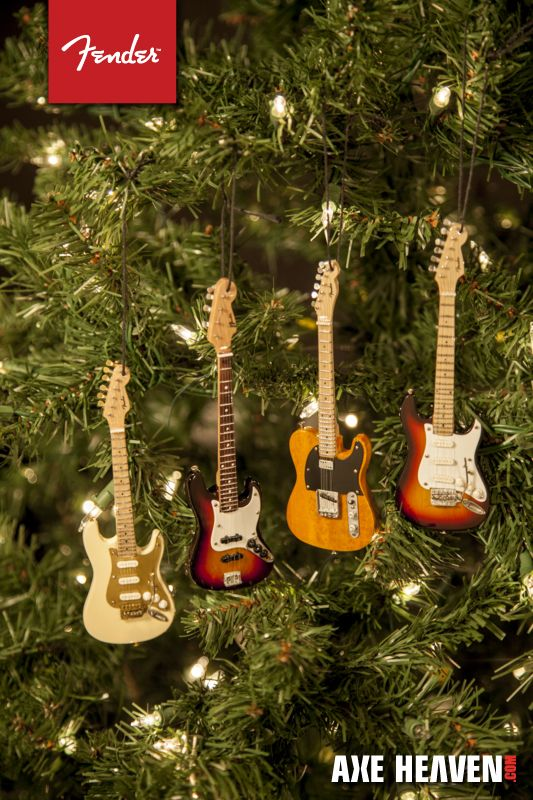 Fender guitar ornaments  Christmas  Pinterest  Guitars