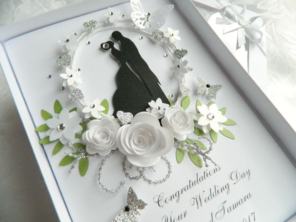 Handmade Personalised Card,Engagement Anniversary Wedding Day Box