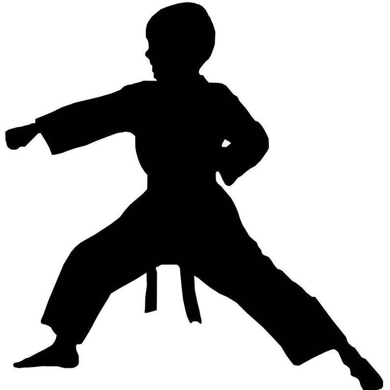 Karate Mann Karate Boy und Karate Mädchen Fenster ...