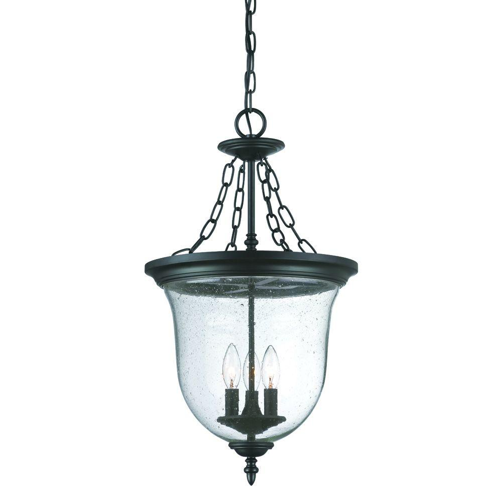 Acclaim Lighting Belle Collection 3 Light Matte Black Outdoor