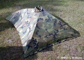 USGI PONCHO SHELTER - THE ALPHA TENT with the USGI Poncho create a low & USGI PONCHO SHELTER - THE ALPHA TENT with the USGI Poncho create ...