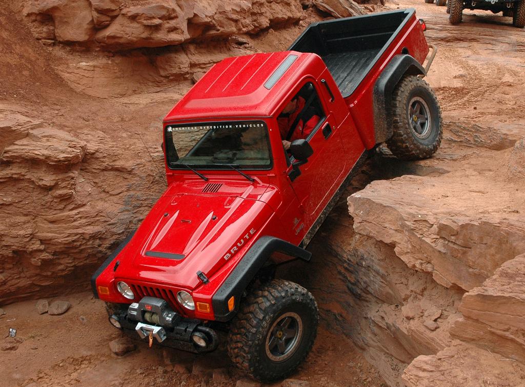 Aev Brute Pickup Conversion Kit For Jeep Wrangler Tj Ok4wd Jeep Brute Jeep Wrangler Jeep Wrangler Diesel