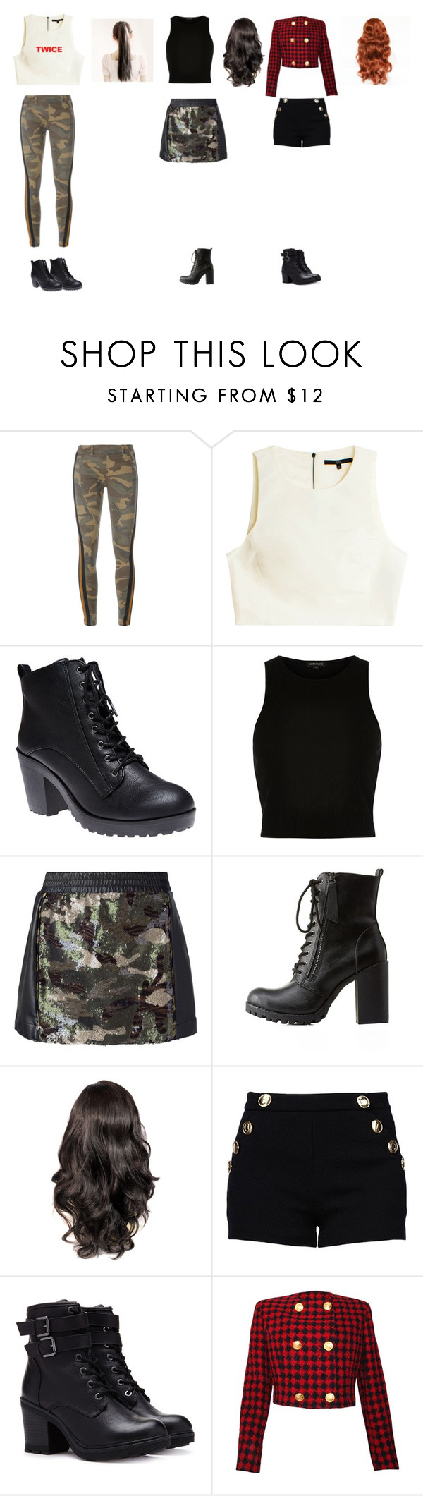 """KPOP TWICE inspired"" by chaeyeonj ❤ liked on Polyvore featuring Faith Connexion, TIBI, Wet Seal, River Island, 8PM, Charlotte Russe, Boutique Moschino, Forever 21 and Versace"