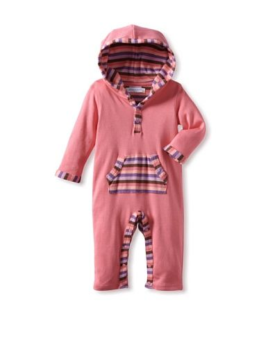 66% OFF Jaxxwear Baby Honeysuckle Pink Stripe Hoodie Romper (Pink)