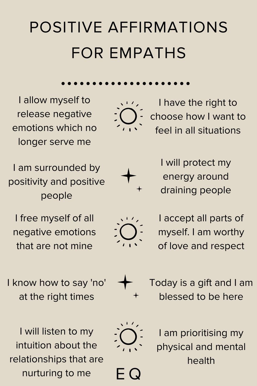 Positive Affirmations for Empaths
