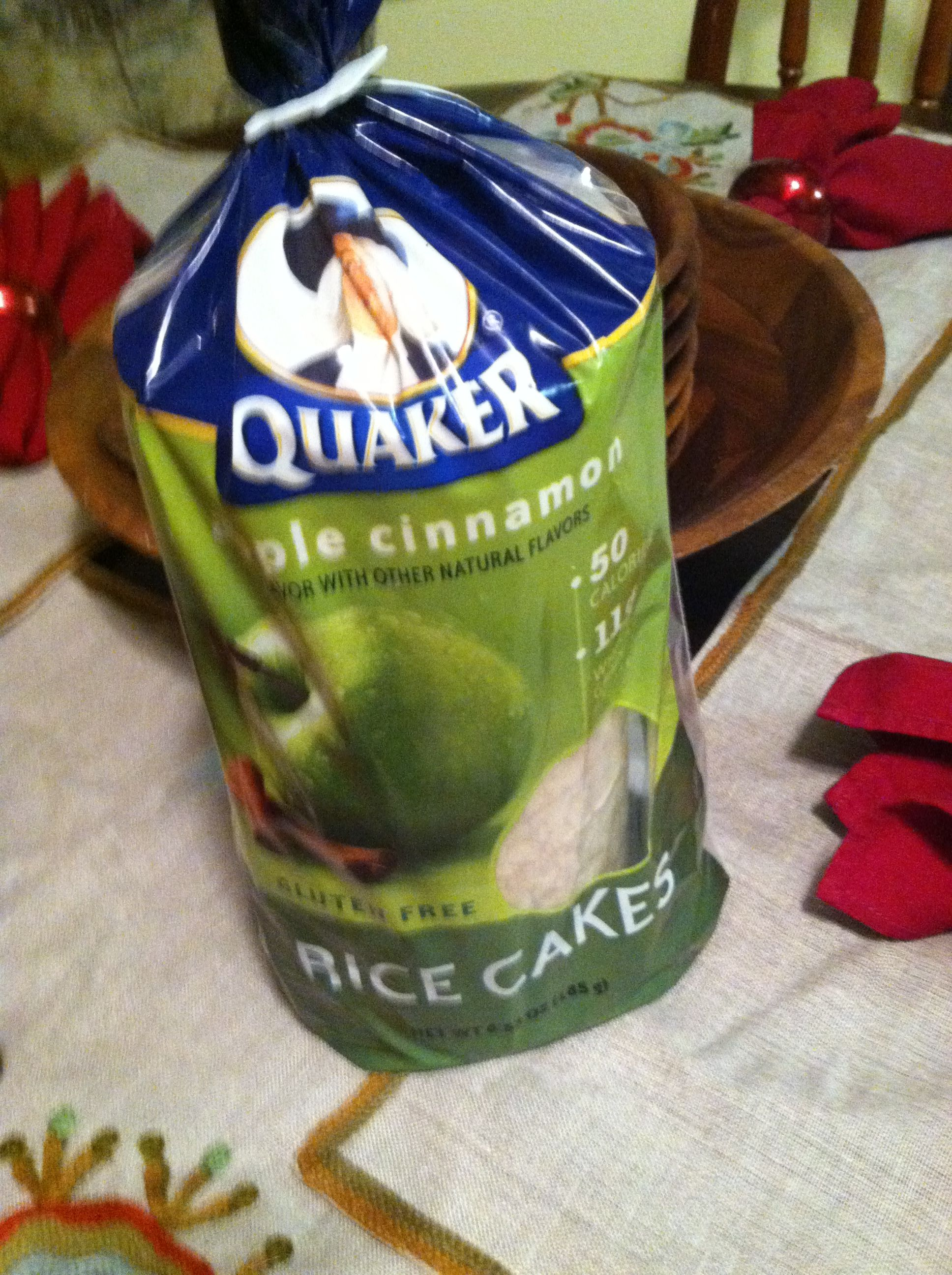 Quaker Apple Cinnamon Rice Cakes So Good With Just A Bit