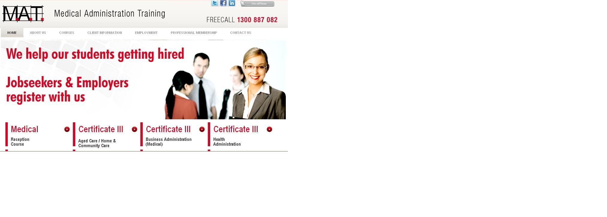 Medtrain offers many courses in medical field such as