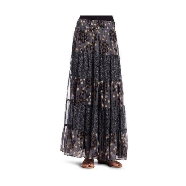 Amazon.com: Ella Moss Womens Romany Long Skirt: Clothing (480 BRL) ❤ liked on Polyvore featuring skirts, blue skirt, maxi skirt, ella moss maxi skirt, ankle length skirt and floor length skirts