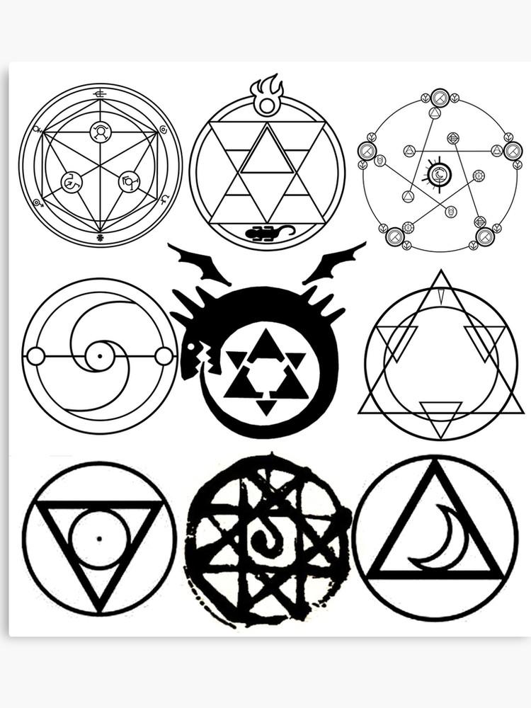 Transmutation Circle Fma Google Search Transmutation Circle Alchemy Symbols Anime Tattoos