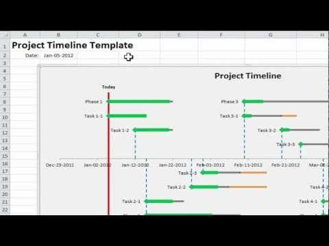 Project Timeline Template In  Simple Steps Using Excel