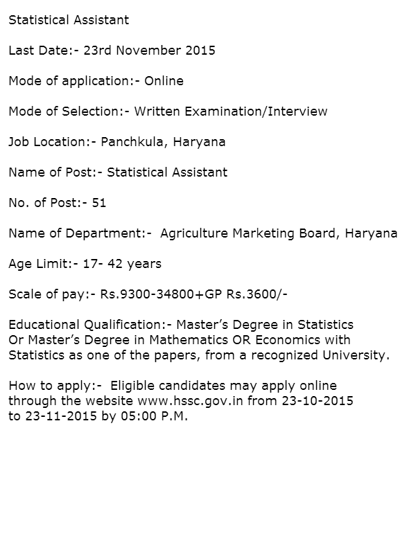 Government Jobs in Haryana SSC | Government Jobs in Haryana ...
