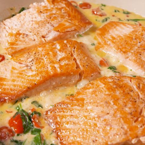 Tuscan Butter Salmon Is An Impressive Dinner That