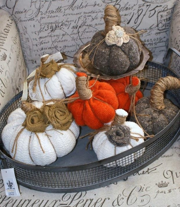 How to Make a Stuffed Fabric Pumpkin Out of Scraps – 19 Ideas
