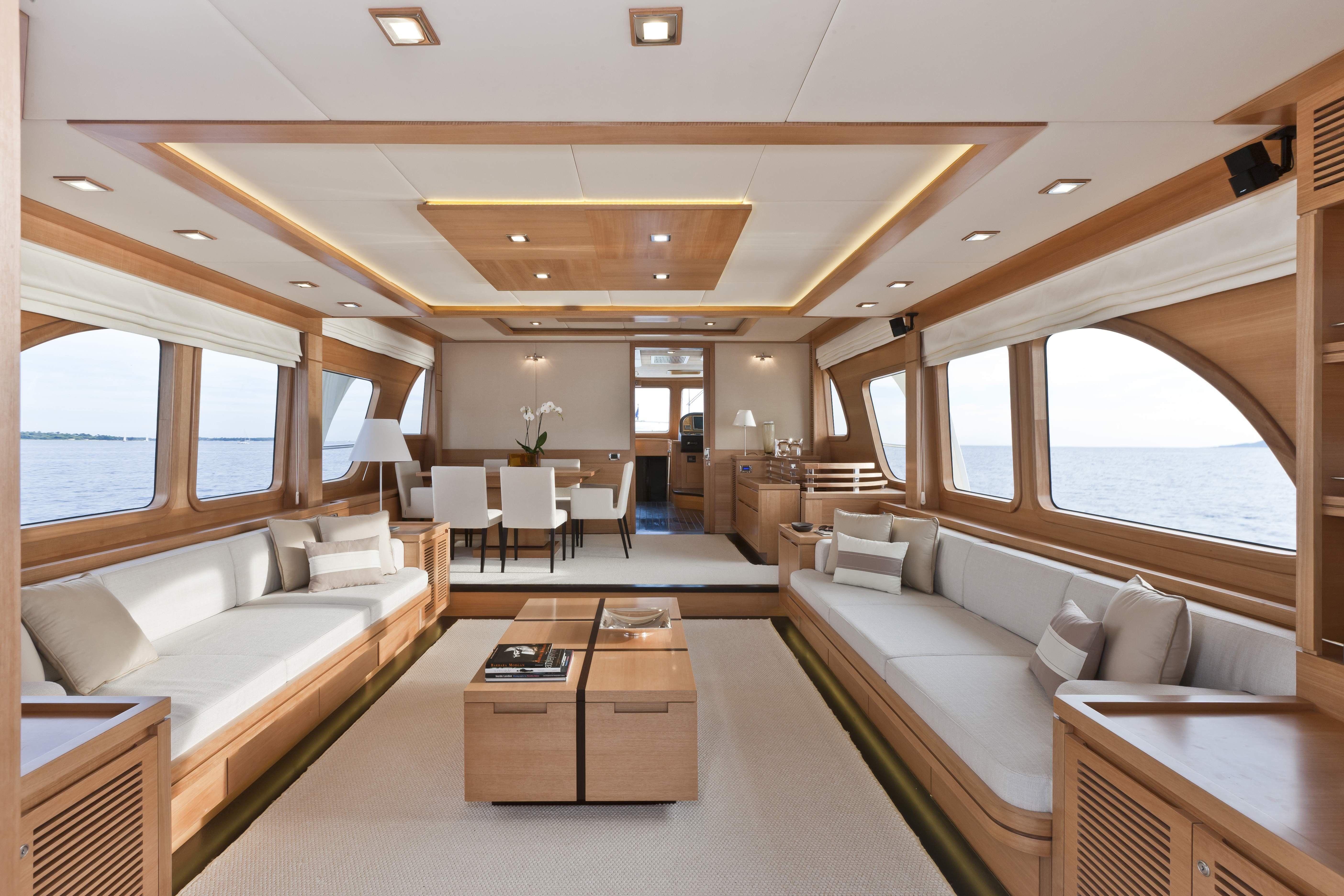 Nice Boat Interiors | Vicem 78 Cruiser Interior U2014 Luxury Yacht Charter U0026  Superyacht News