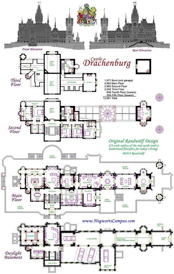 Drachenburg Castillo Piso Plan Going To Build My Own Mini Castle Someday Castle Floor Plan House Blueprints Castle Plans