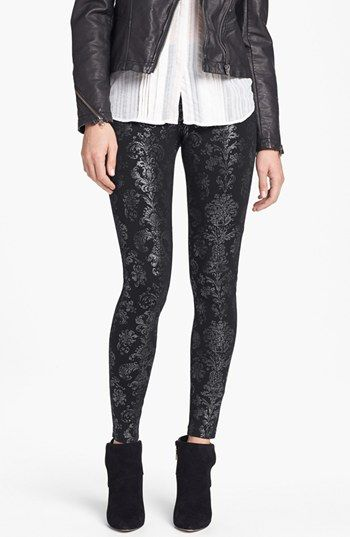 87b1770ff115ae These leggings are amazing! Hue Foil Brocade Leggings available at  #Nordstrom