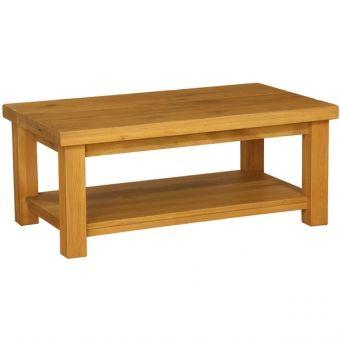 Plank oak coffee small table