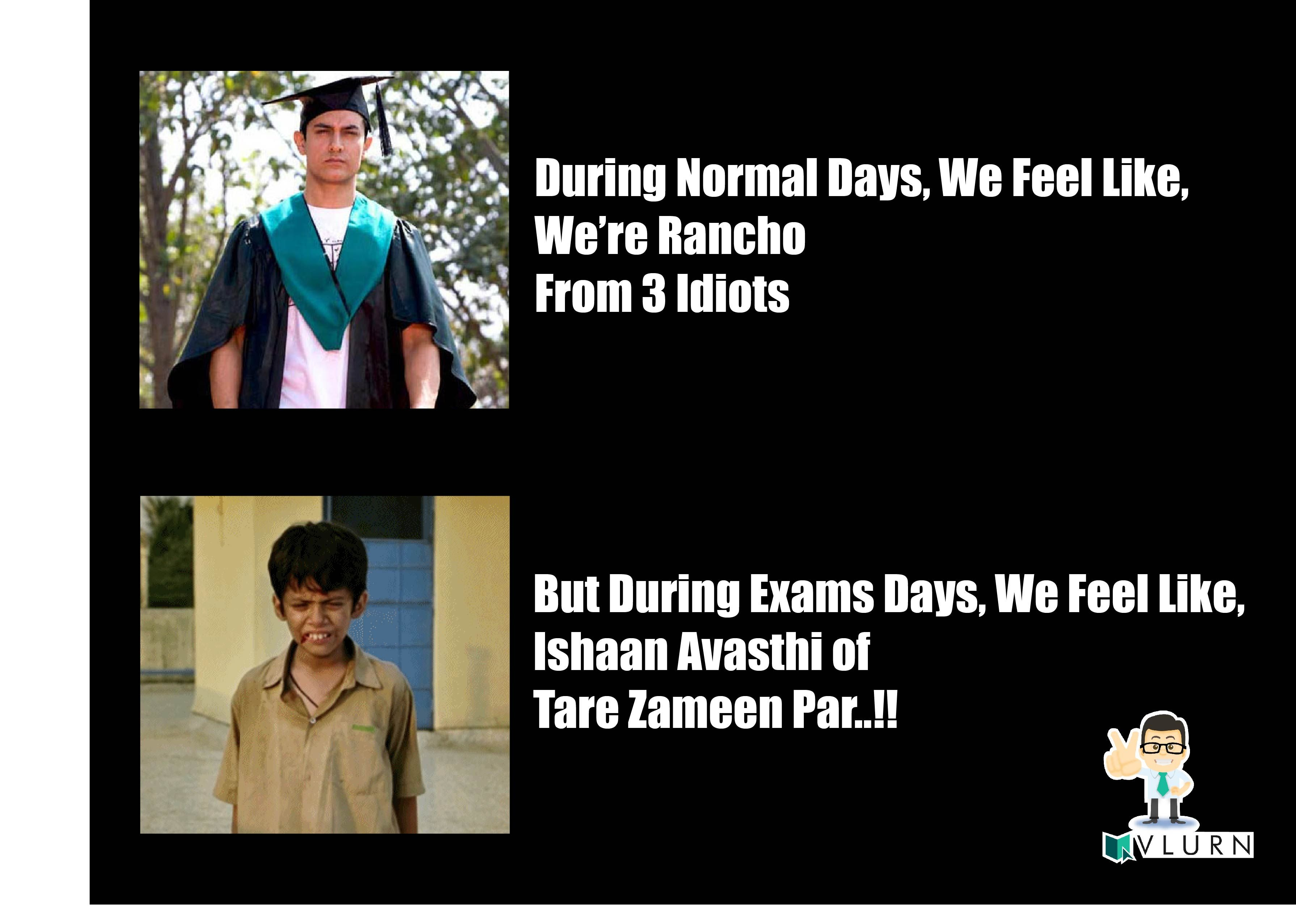 Normal Days Vs. Exam Days! | Motivational and Funny Quotes ...