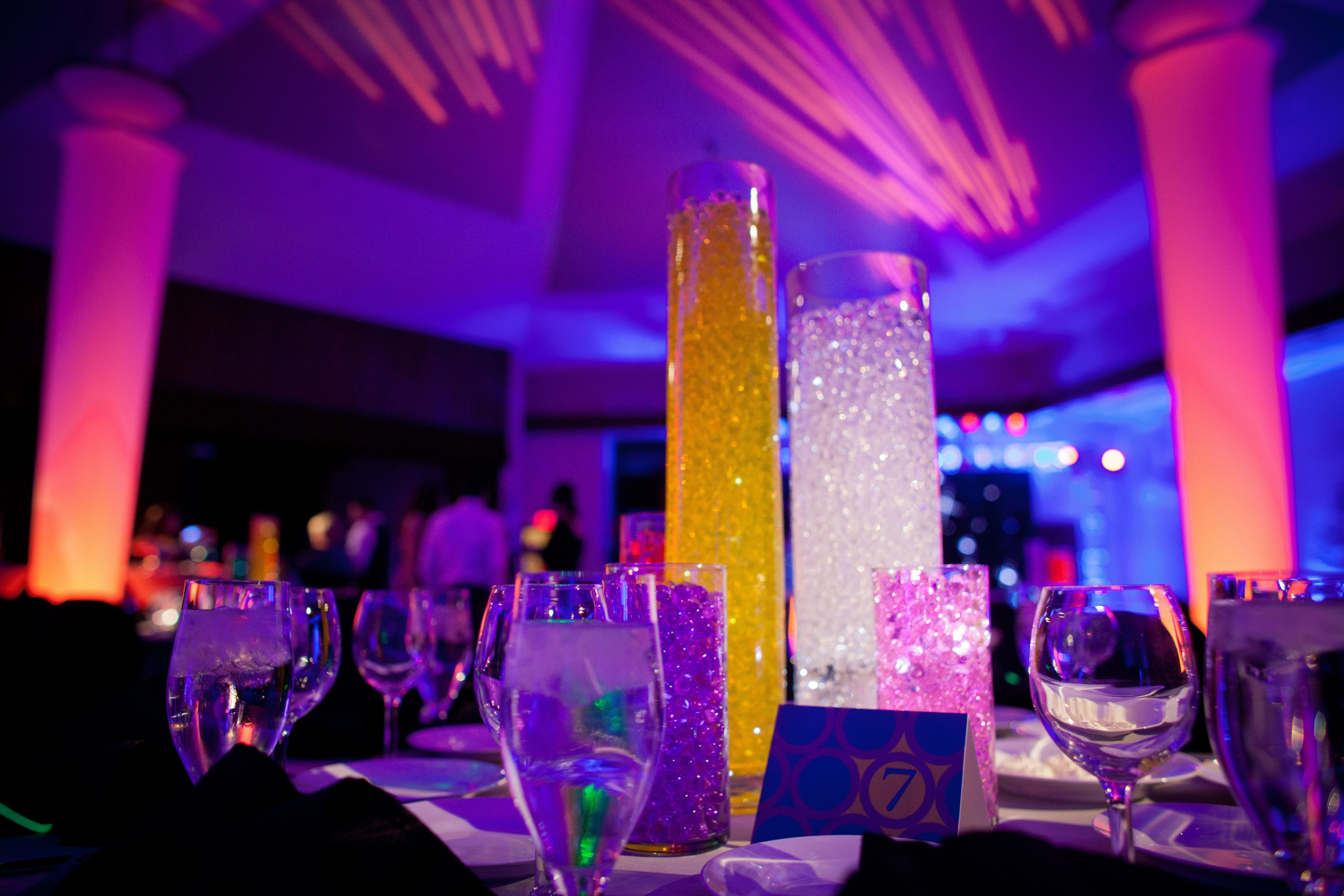 LED Light Theme Decor Bar Mitzvah Felici Events @FeliciEvents