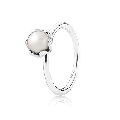 anello pandora perla grigia