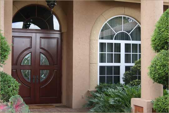 Hurricane Approved Front Doors Mahogany Impact Resistant Entry