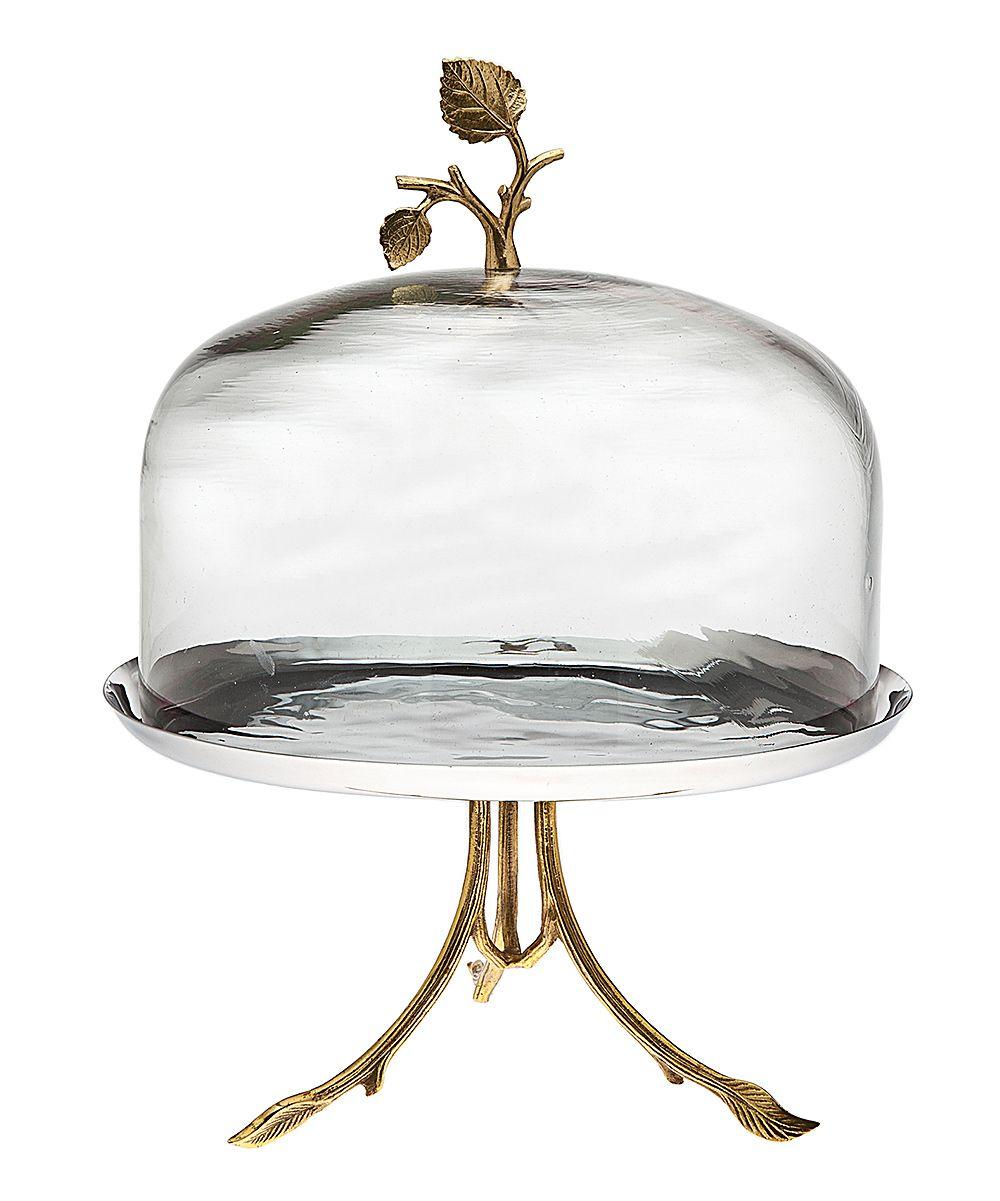 Godinger leaf cake pedestal dome daily deals for moms