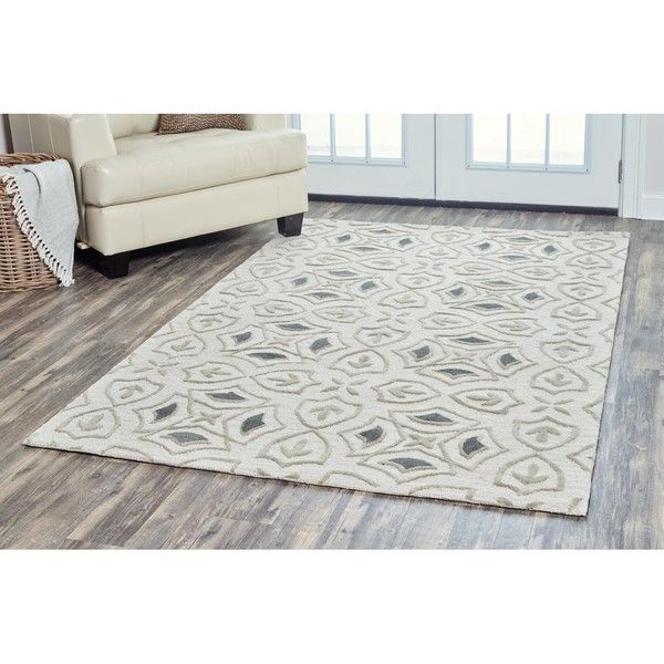 Arden Loft Hand Tufted Ivory Brick Lane Lisbon Corner Collection Wool 945 Liked On Polyvore Featuring Home Ru Rizzy Home Wool Area Rugs Area Rug Sizes