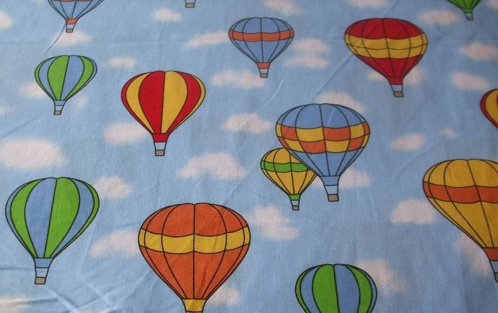 Hot Air Balloons 100 Cotton Fabric by the metre 57