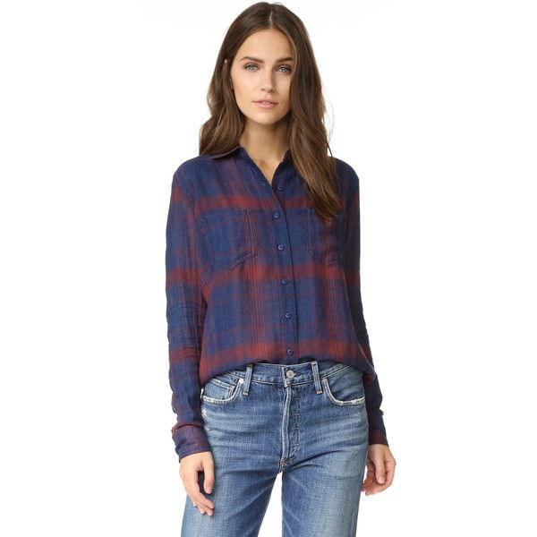 Joe s Jeans Teague Shirt ($158) ❤ liked on Polyvore featuring tops