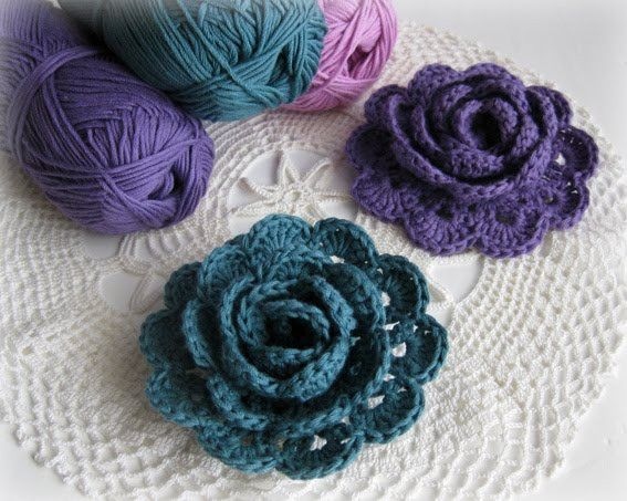 crochet rose pattern | Crocheting- Extra/ Tips/ Odds | Pinterest ...