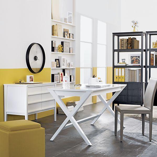 Spotlight White Credenza Crate And Barrel White Desks White