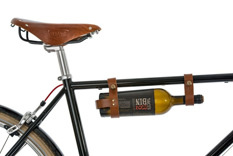 Leather Bicycle Wine Rack More Stuff For Bicycle Lovers! The Handmade  Leather Bicycle Wine Rack