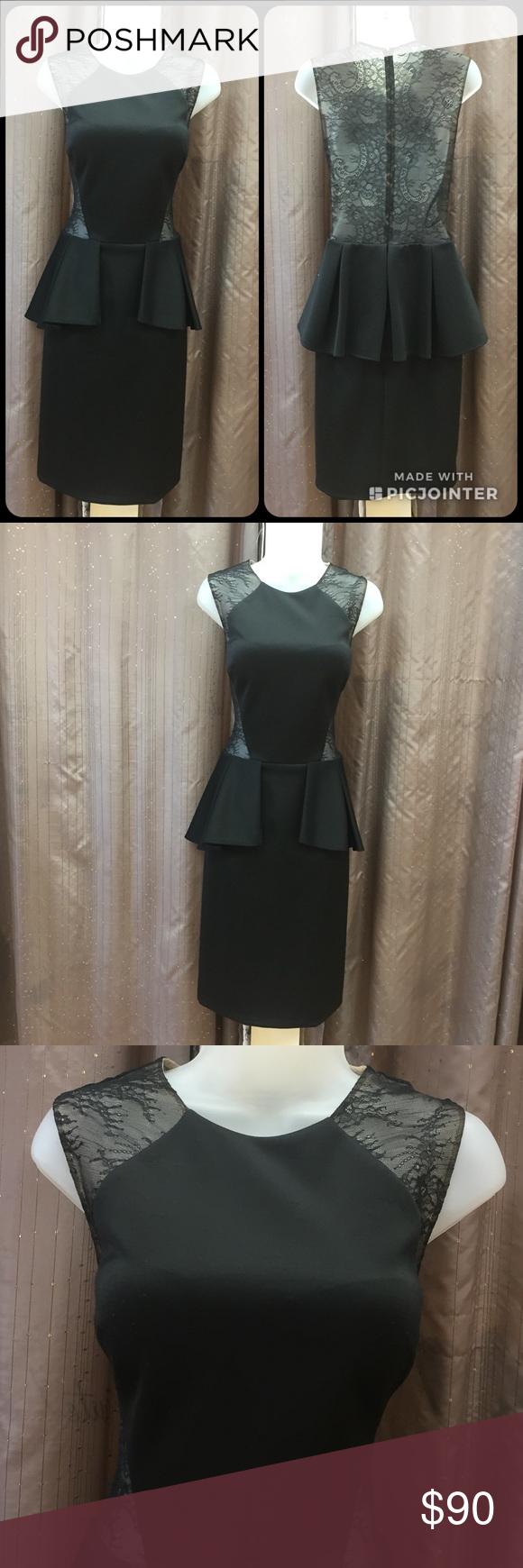 Jovani Short Black Dress Size 12 With Lace Black Short Dress Dresses Black Dress [ 1740 x 580 Pixel ]