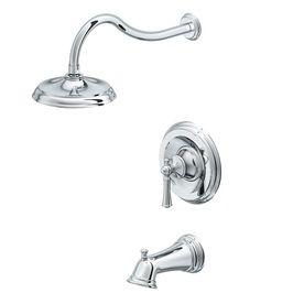 Aquasource Glyndon Polished Chrome 1 Handle Bathtub And Shower