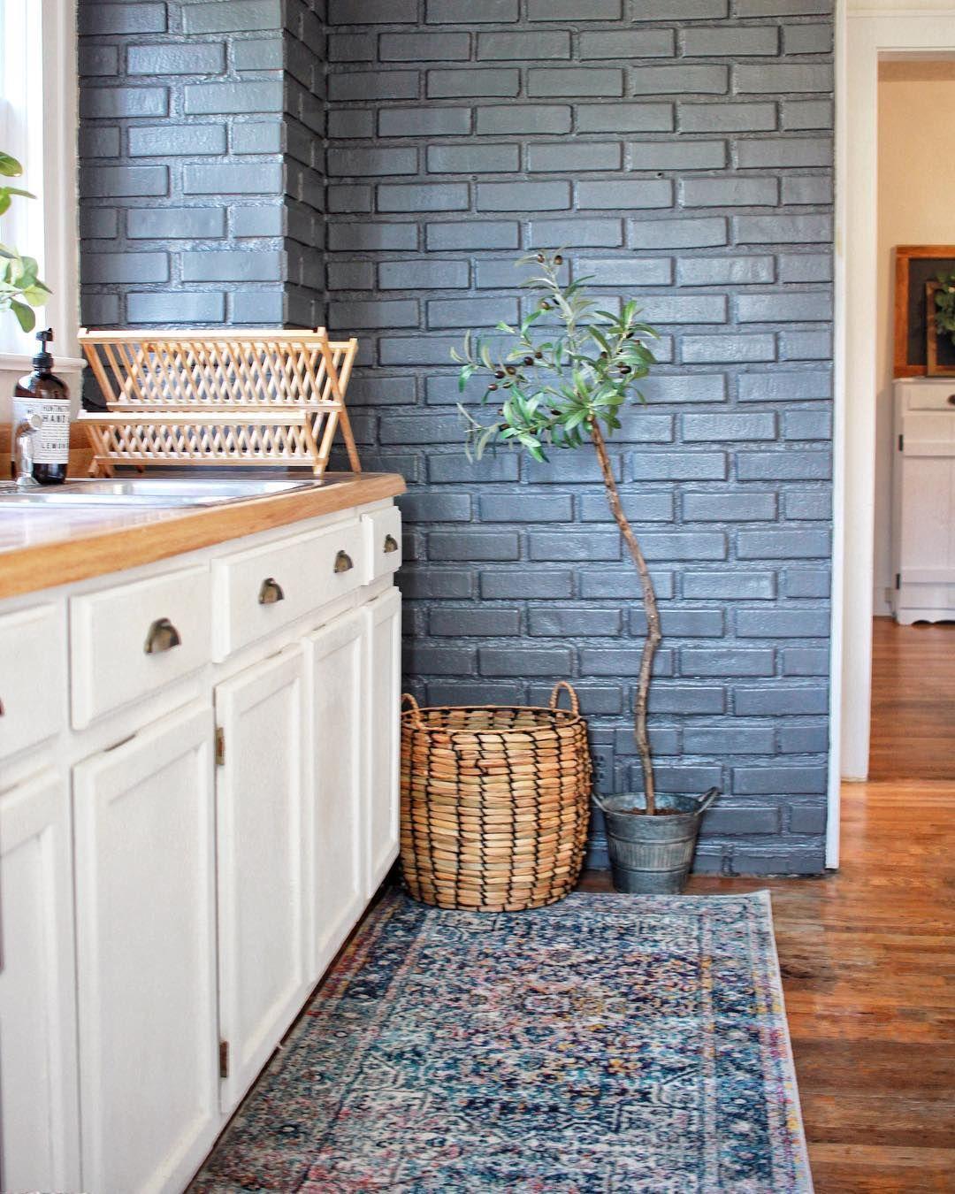 Painted Brick Kitchen Brick Interior Wall Brick Interior