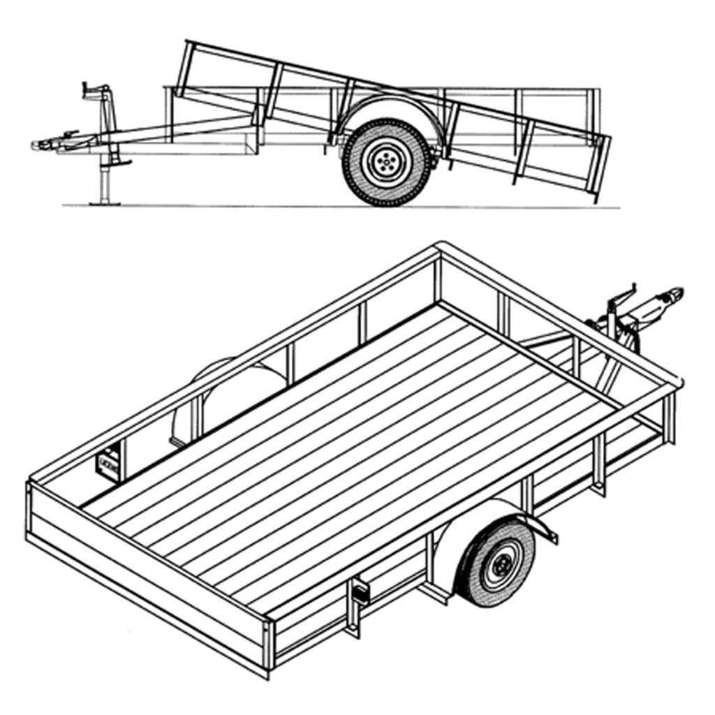 6 4 x 10 utility tilt trailer plans 3 500 lb capacity model 8 Pin Flat Trailer Wiring 6 4 x 10 utility tilt trailer plans model 1110t
