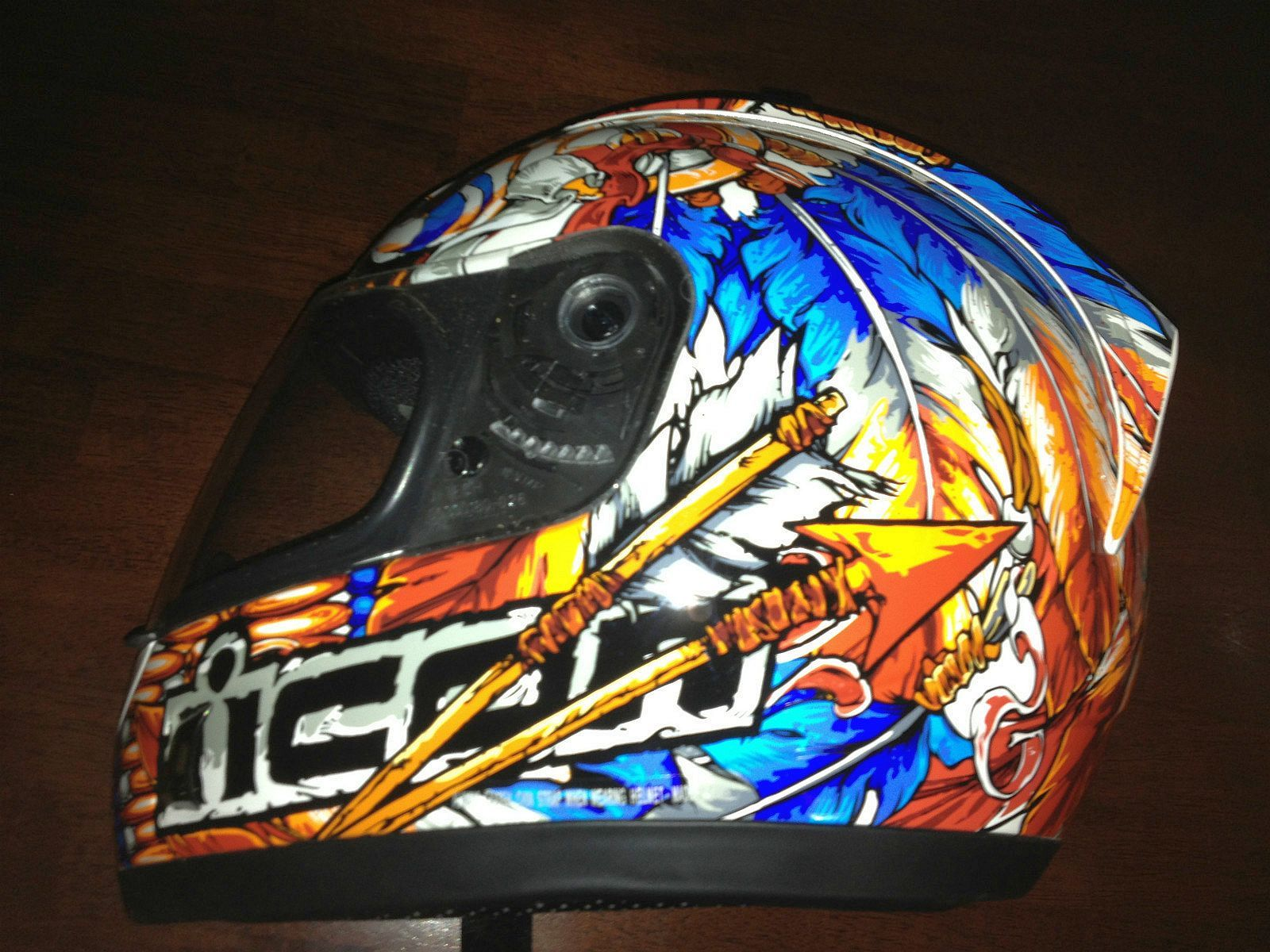 Icon Motorcycle Helmet Men s Used Streetbike Helmets