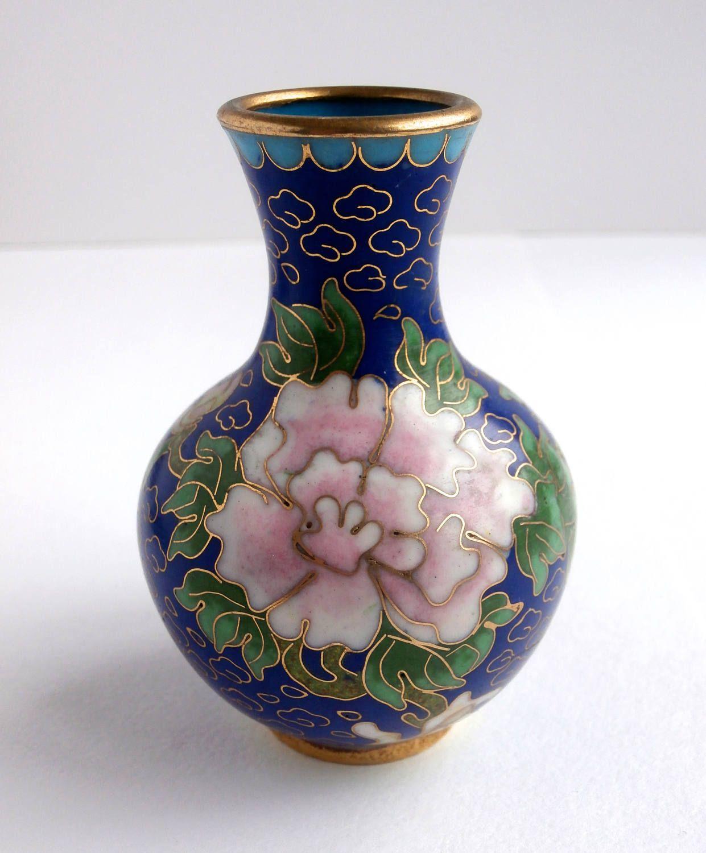 Miniature vase vintage decor blue and gold decorative vases miniature vase vintage decor blue and gold decorative vases cloisonne vase reviewsmspy