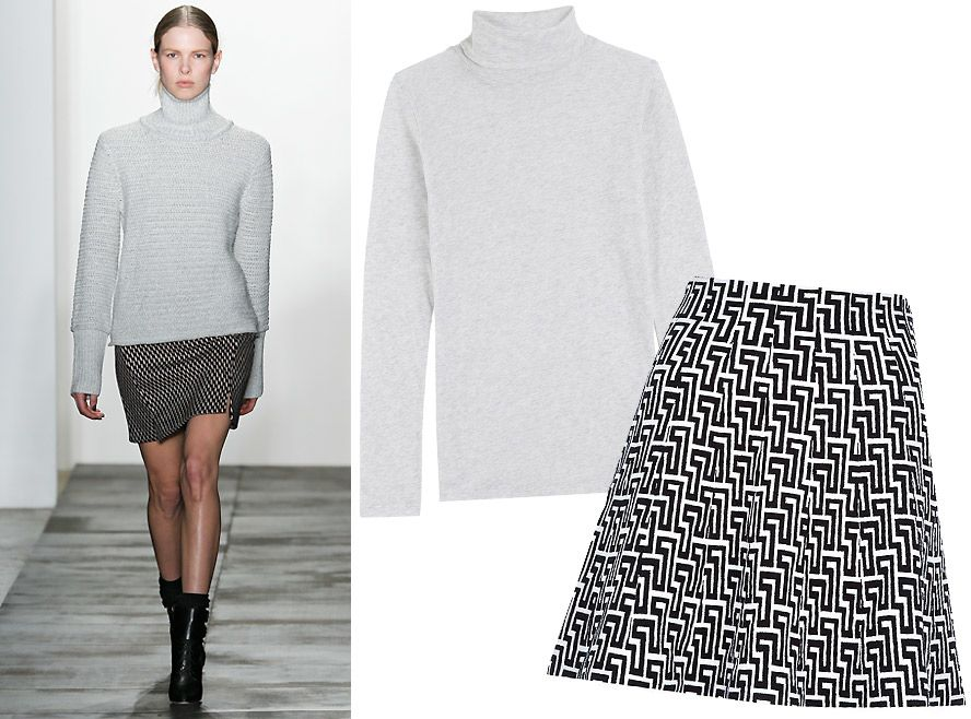 f955c8acb 17 Foolproof Sweater-and-Skirt Combos to Wear This Fall