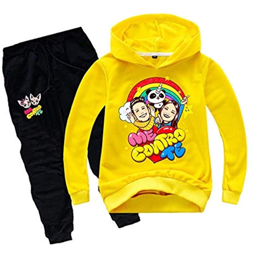 Leslady Unisex Felpa 3D Tuta Bambino con Pantaloni Carino Sets con Felpa Sportiva per Bambini e Ragazzi